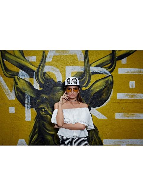 Laslusa My Life Hip Hop Snapback Şapka Beyaz